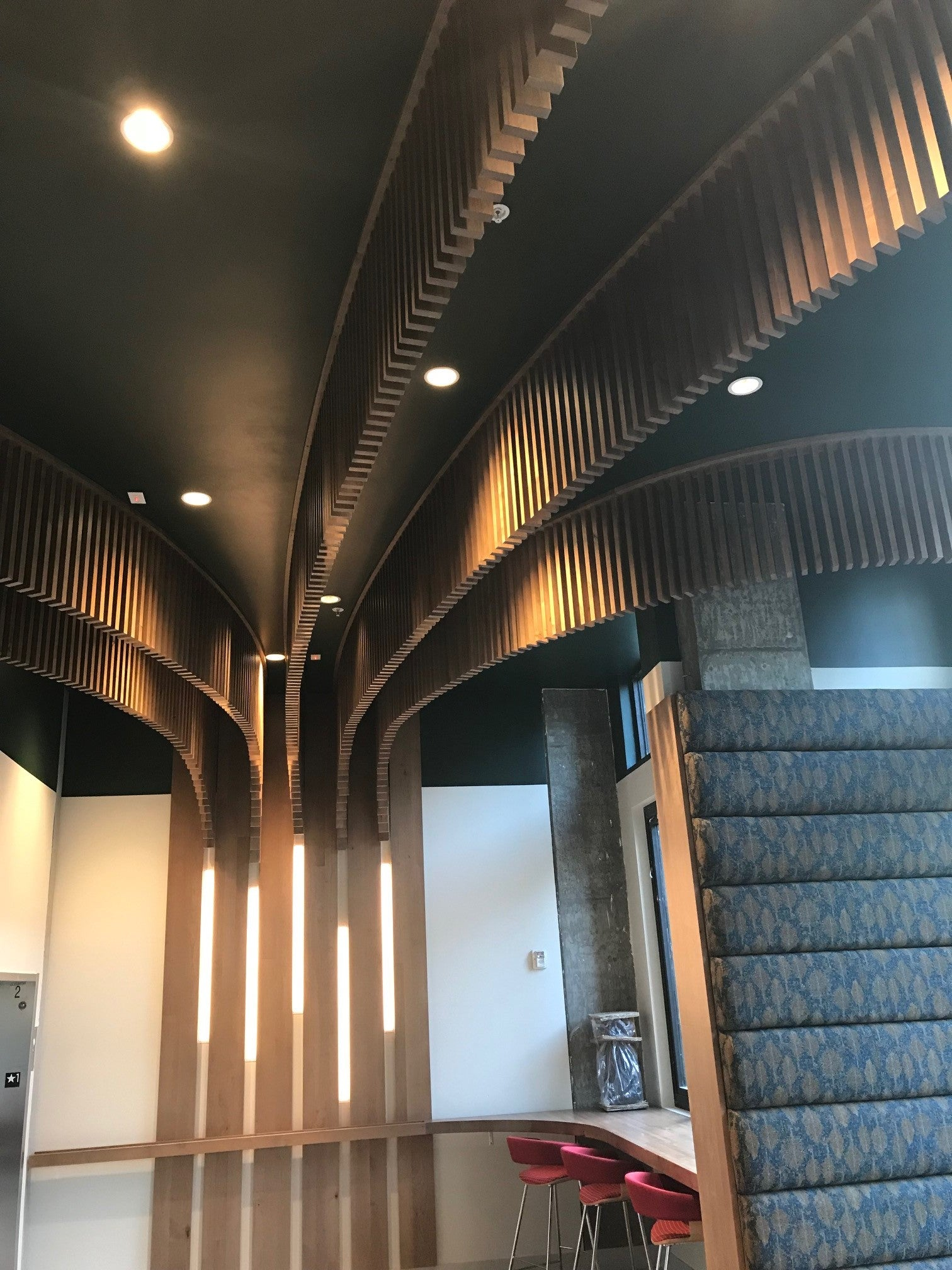 Hanging Fins | Lobby of The Junction Apartments, Bothell, WA