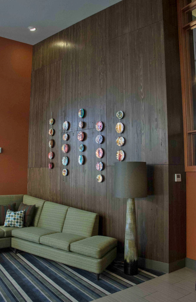 Windfall Lumber Engineered Panel, Green Lake Apartments Lobby, Seattle, WA