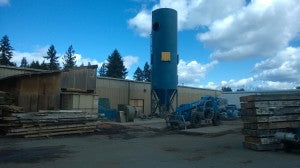 Dust Collector installation, steps 1 and 2: Pour the cement pads, Erect the filter silo..