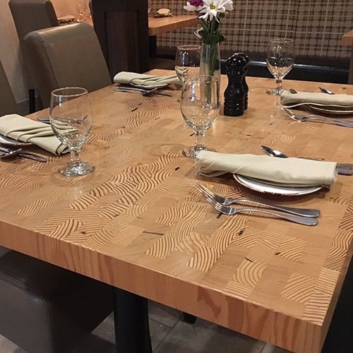 Reclaimed Douglas Fir End Grain Countertop
