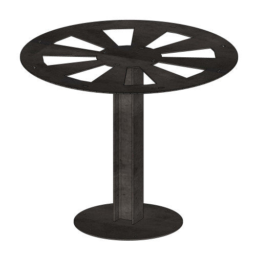 Pedestal I-Beam Table Base