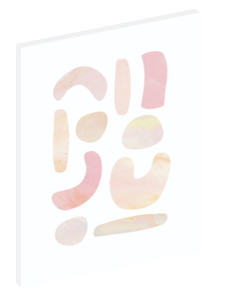 "Canvas print wall art of a modern abstract design titled ""Pastel Stones"" by Izabela Pichotka. Pairs perfectly with ""Pastel Sands"" and ""Pastel Shells"" (each sold separately)."