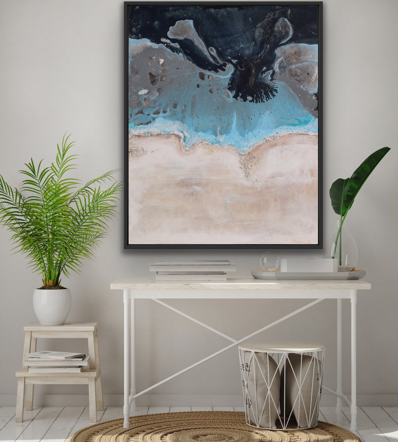 Canvas print wall of a the ocean by Kinga Maziuk.