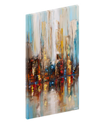 Canvas print wall art of an abstract cityscape by Osnat Tzadok.