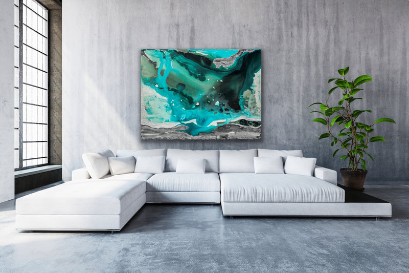Canvas print wall art of the ocean by Kinga Maziuk.