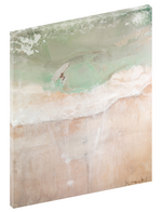 Canvas print wall of a girl surfing in the ocean by Kinga Maziuk.