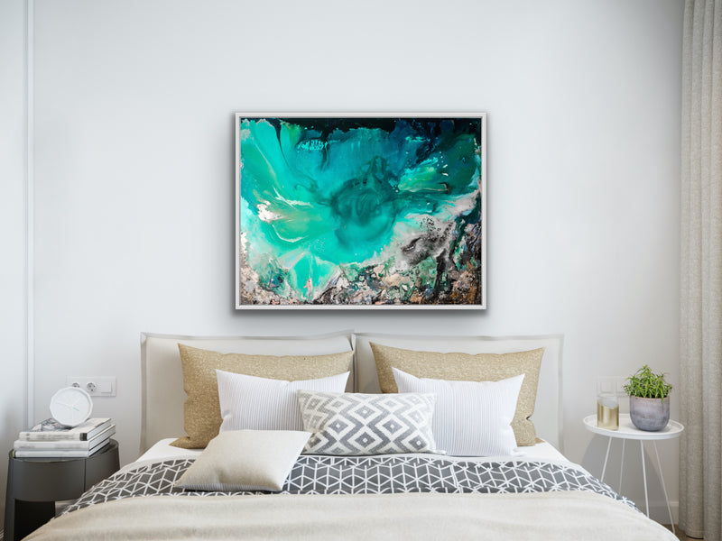 Canvas print wall of ocean and beach by Kinga Maziuk.