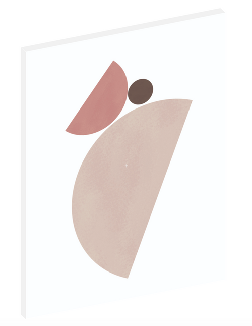 "Canvas print wall art of a modern abstract design titled ""Sherwin Angular Arrangement"" by Izabela Pichotka. Pairs perfectly with ""Sherwin Angular Arrangement"" and ""Sherwin Bowl and Table"" (each sold separately)."