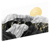 Canvas print wall art of abstract yellow, black, and grey marble mountain landscape by amini54.