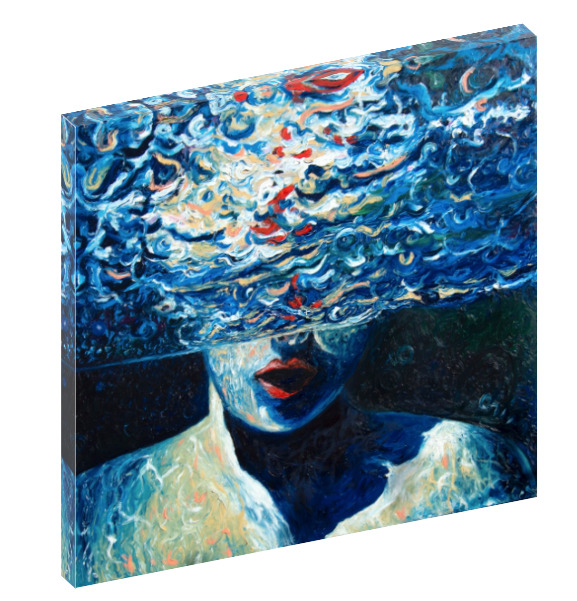 Canvas wall art print of a women underwater by Chiara Magni.