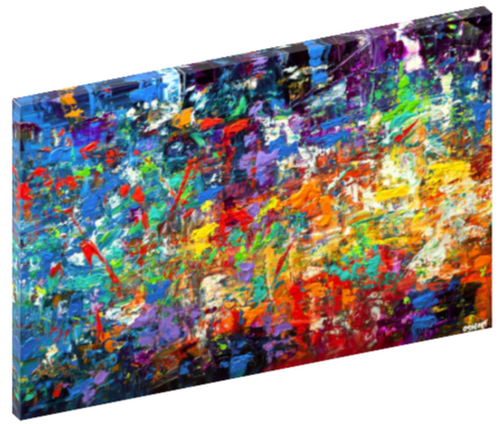 "Canvas print wall art of an abstract splatter paint painting titled ""20 Million Things To Do"" by Osnat Tzadok."