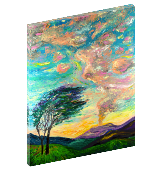 "Canvas print wall art of dreamy country landscape titled ""Dream"" by Chiara Magni."