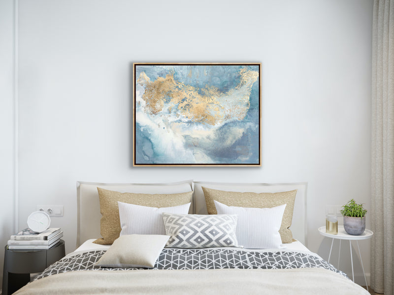 Canvas print wall of modern abstract painting by Julia Contacessi. Don't we all need a dream catcher to protect us from negative dreams, while letting positive dreams through? Pairs beautifully with Dream Catcher No. 4 (sold separately).