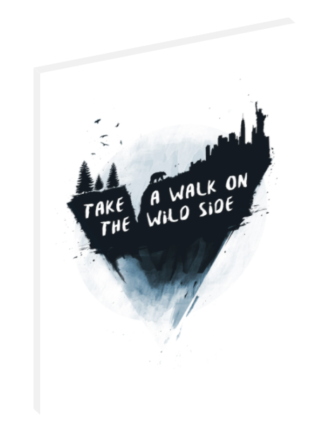 "Canvas print wall art illustration titled ""Take a Walk on the Wild Side"" by Balázs Solti."