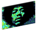Canvas print wall art of pop art triangle collage of Jimi Hendrix by Cristian Mielu.