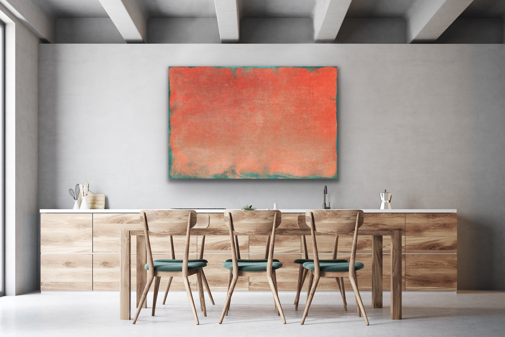 Canvas print wall art of abstract painting by amini54.