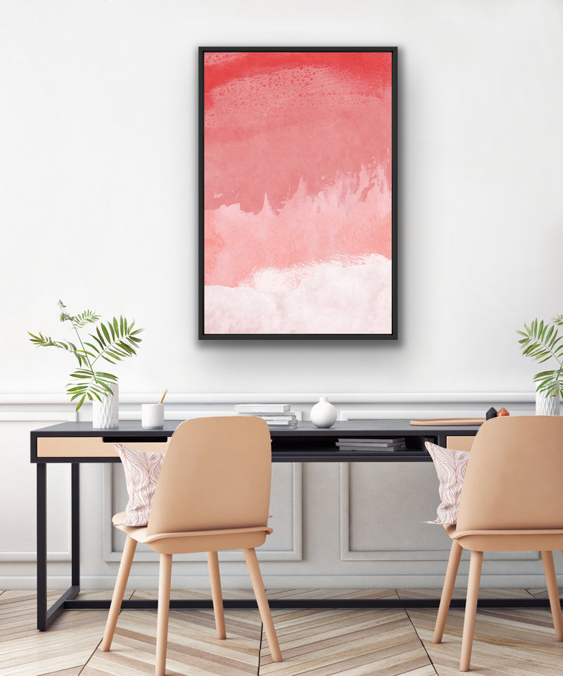 Canvas print wall art of an abstract painting by amini54.