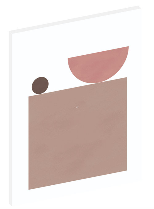 "Canvas print wall art of a modern abstract design titled ""Sherwin Bowl and Table"" by Izabela Pichotka. Pairs perfectly with ""Sherwin Angular Arrangement"" and ""Sherwin Balancing Act"" (each sold separately)."
