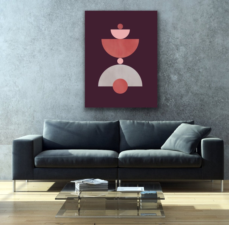 "Canvas print wall art of a modern abstract design titled ""Vessels 2"" by Izabela Pichotka. Pairs perfectly with ""Vessels 1"" and ""Vessels 3"" (each sold separately)."