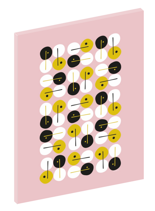 "Canvas print wall art of a modern abstract design titled ""Clarinet"" by Izabela Pichotka. Pairs perfectly with ""Harpsicord"" and ""Piano Keys"" (each sold separately)."