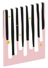 "Canvas print wall art of a modern abstract design titled ""Piano Keys"" by Izabela Pichotka. Pairs perfectly with ""Harpsicord"" and ""Clarinet"" (each sold separately)."