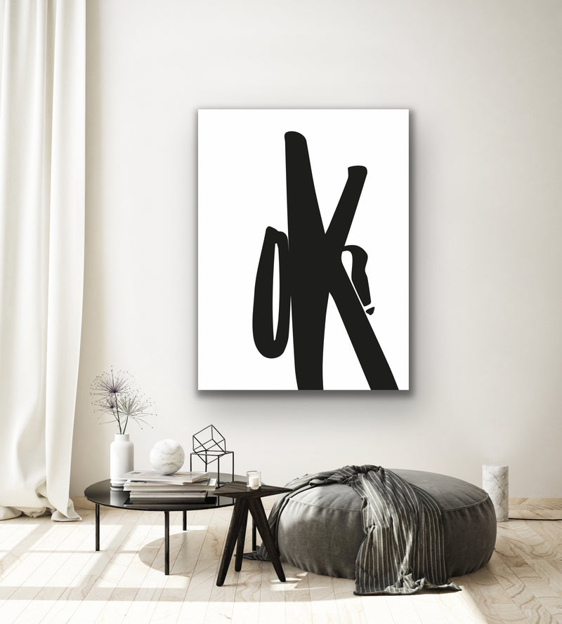 "Canvas print wall art of a modern abstract design titled ""OK Scrawl"" by Izabela Pichotka. Pairs perfectly with ""Dope Scrawl"" and ""Letter Scrawl"" (each sold separately)."