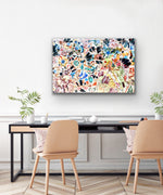 Canvas print wall art titled Mosaic of Barcelona 01 by by amini54.