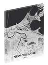 Canvas print wall art map of New Orleans, Louisiana.