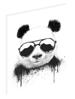 Canvas print wall art illustration of a cool panda wearing sunglasses by Balázs Solti.