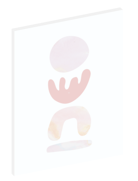 "Canvas print wall art of a modern abstract design titled ""Pastel Shells"" by Izabela Pichotka. Pairs perfectly with ""Pastel Sands"" and ""Pastel Stones"" (each sold separately)."