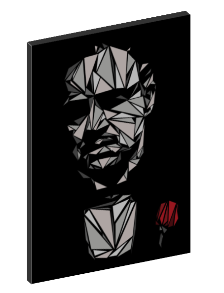 Canvas print wall art of pop art triangle collage of Vito Corleone from the Godfather by Cristian Mielu.