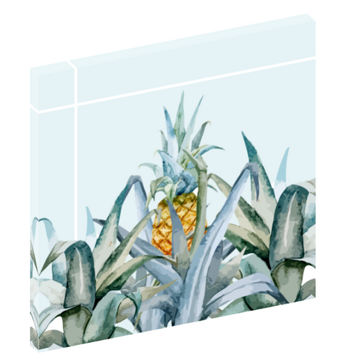"Canvas wall art print of a pineapple titled ""Tropical Feeling"" by Mark Ashkenazi."