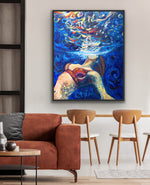 Canvas print wall art of women swimming underwater by Chiara Magni.