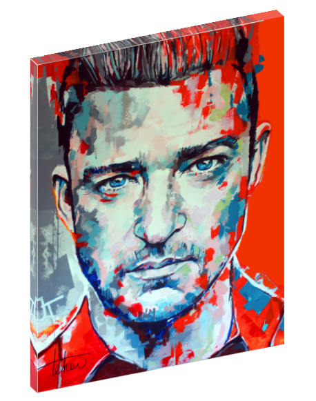 Canvas wall art print of Justin Timberlake by Sergey Tehov.