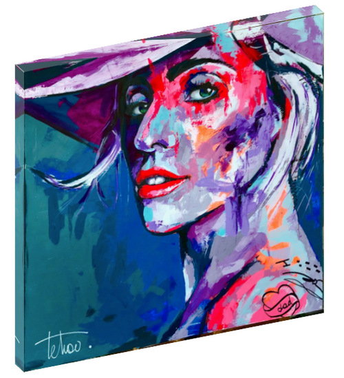 Canvas wall art print of Lady Gaga by Sergey Tehov.