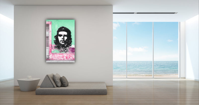Canvas wall art photograph of Che Guevara mural in Cuba by Philippe Hugonnard.