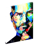 Canvas wall art print of Steve Jobs by Sergey Tehov.