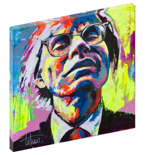 Canvas wall art print of Andy Warhol by Sergey Tehov.