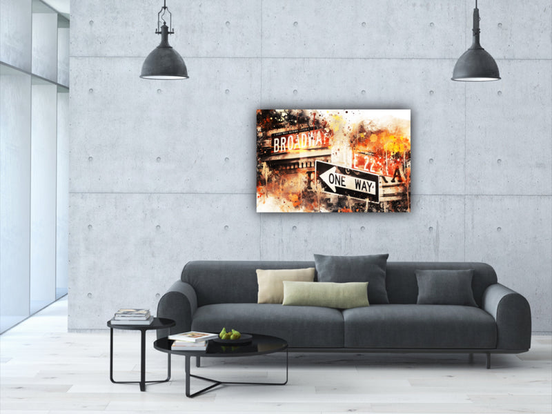 Canvas wall art watercolor painting of New York City at the intersection of Broadway and E 22nd by Philippe Hugonnard.