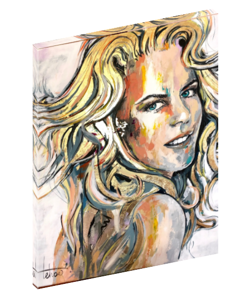 Canvas wall art print of celebrity actress Nicole Kidman by Sergey Tehov.