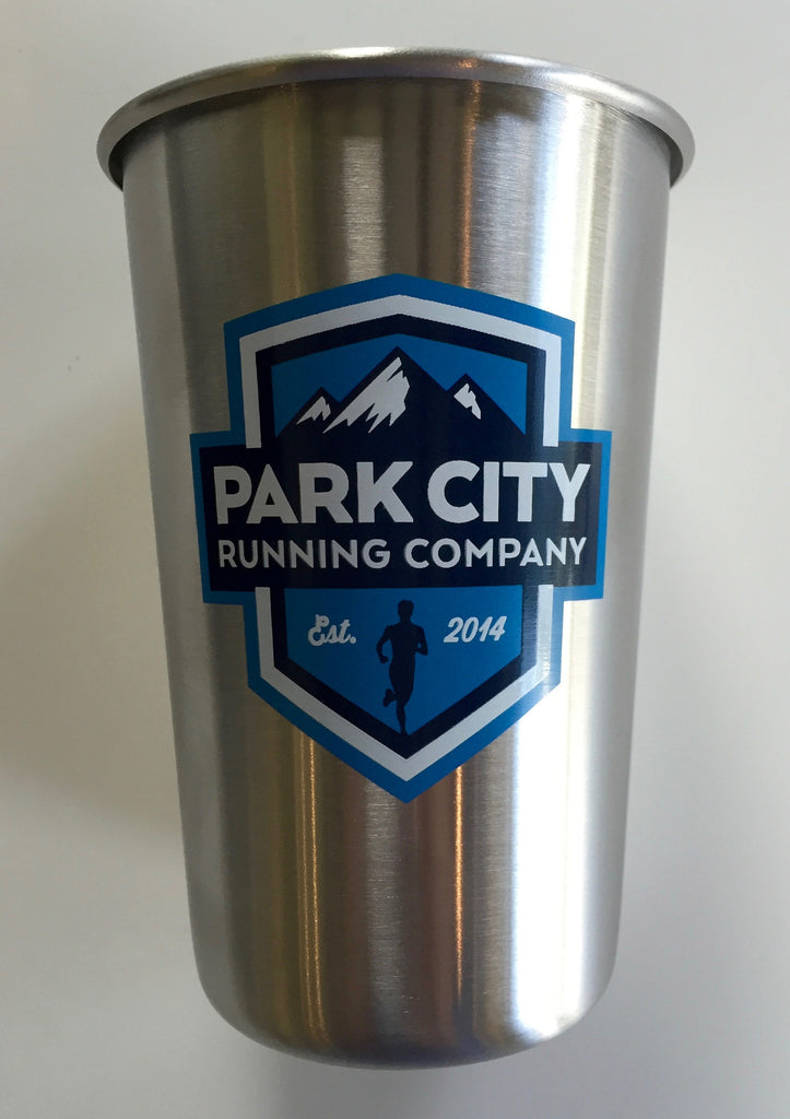 PC Run Co - Stainless Steel Pint Glass - Crest