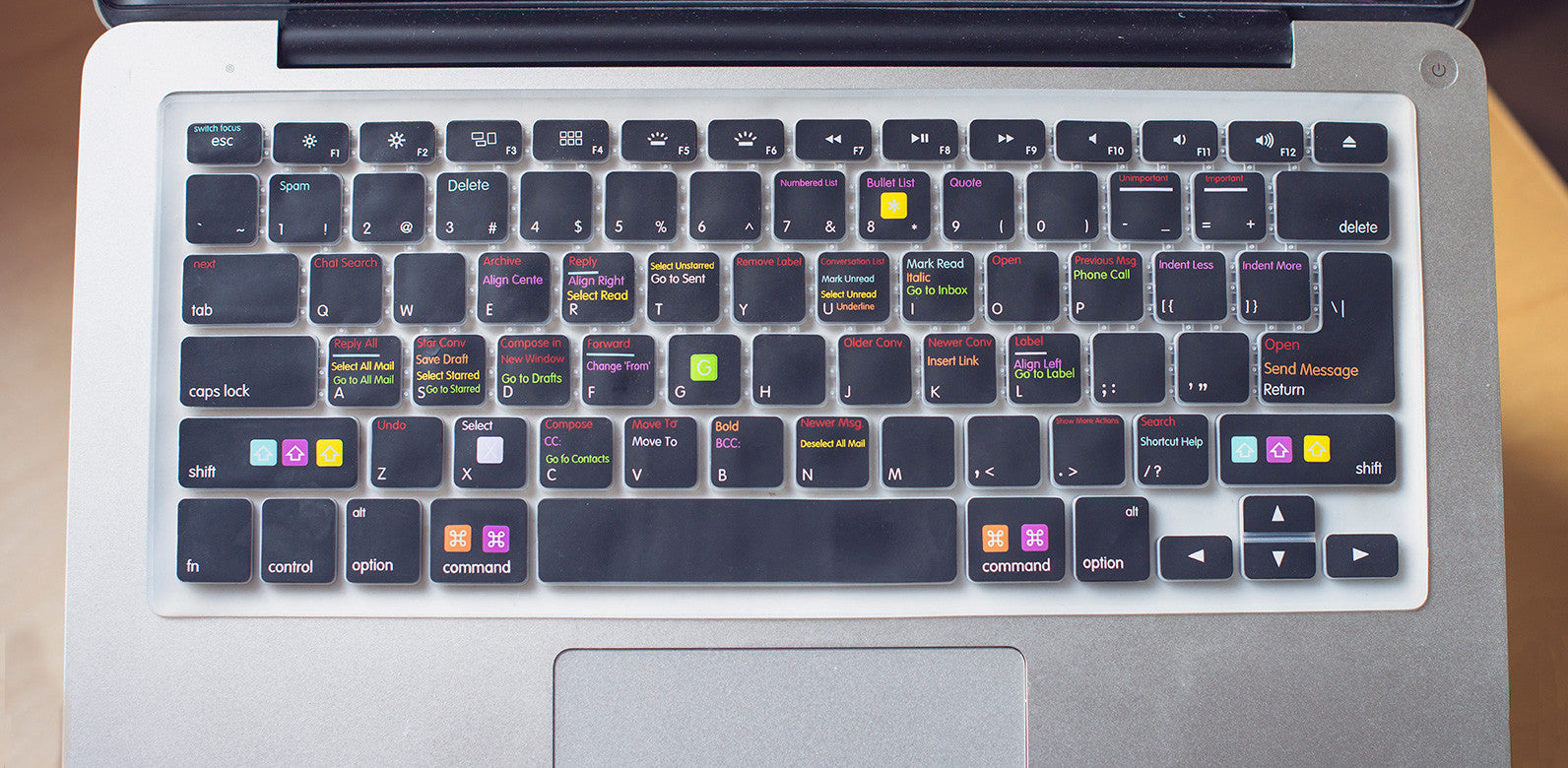 quality design bf96e 0708a Gmail Shortcut Keyboard Cover