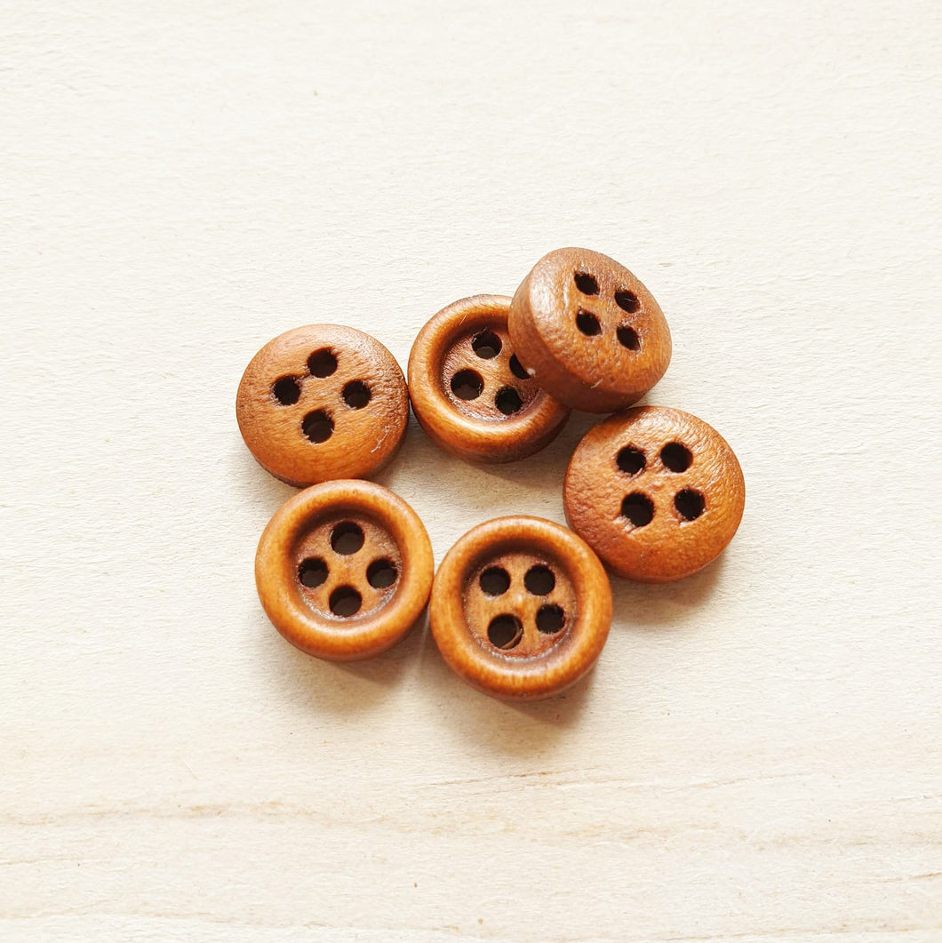 Buttons - Small Brown