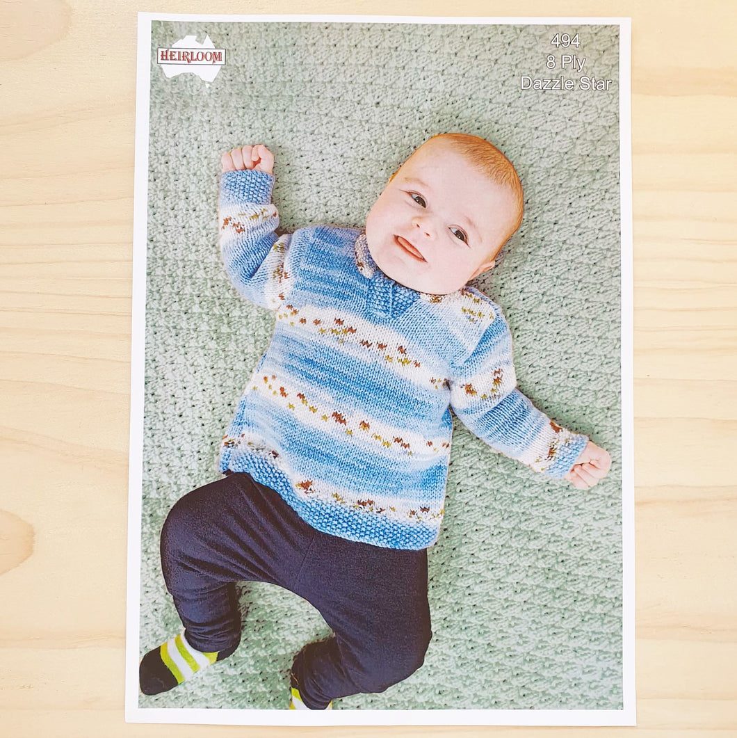 Heirloom -Dazzle Star Knit Baby Jumper