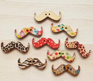 Buttons - Moustaches