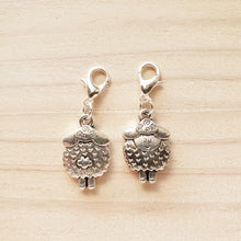 Load image into Gallery viewer, Stitch Markers - Silver Sheep