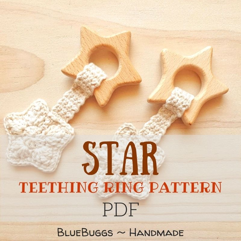 Star Teething Ring - PDF Download Only