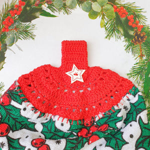 Christmas Crochet: Tea Towel Topper - PDF Download Only