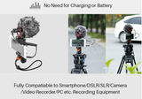Vlogging Microphone for DSLR Cameras & Smartphones