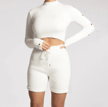 Long Sleeve Turtleneck Loungewear Set - THE GOOD TINGZ